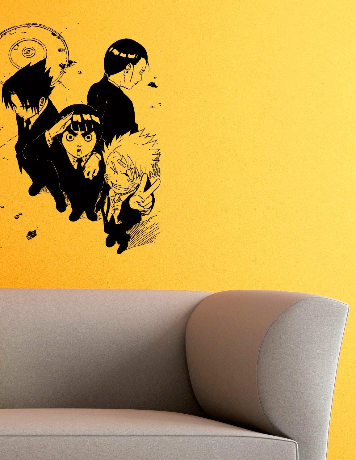 Amazon.com: Naruto Sasuke Rock Lee and Neji Vinyl Wall ...