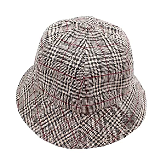 e9c26759937d32 ACVIP Women's Checkered Summer Outdoor Sun Protection Bucket Hat (Color 1)  at Amazon Women's Clothing store: