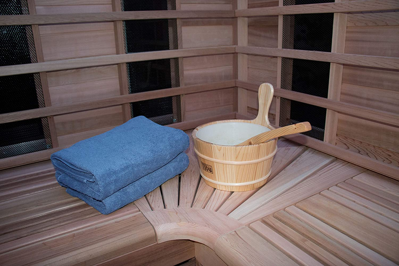 algod/ón 70x200 cm Beige ZOLLNER 2 Toallas de Sauna