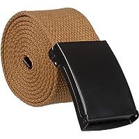 Mens Canvas Belt Metal Buckle Tactical Military Belts - Various Colours