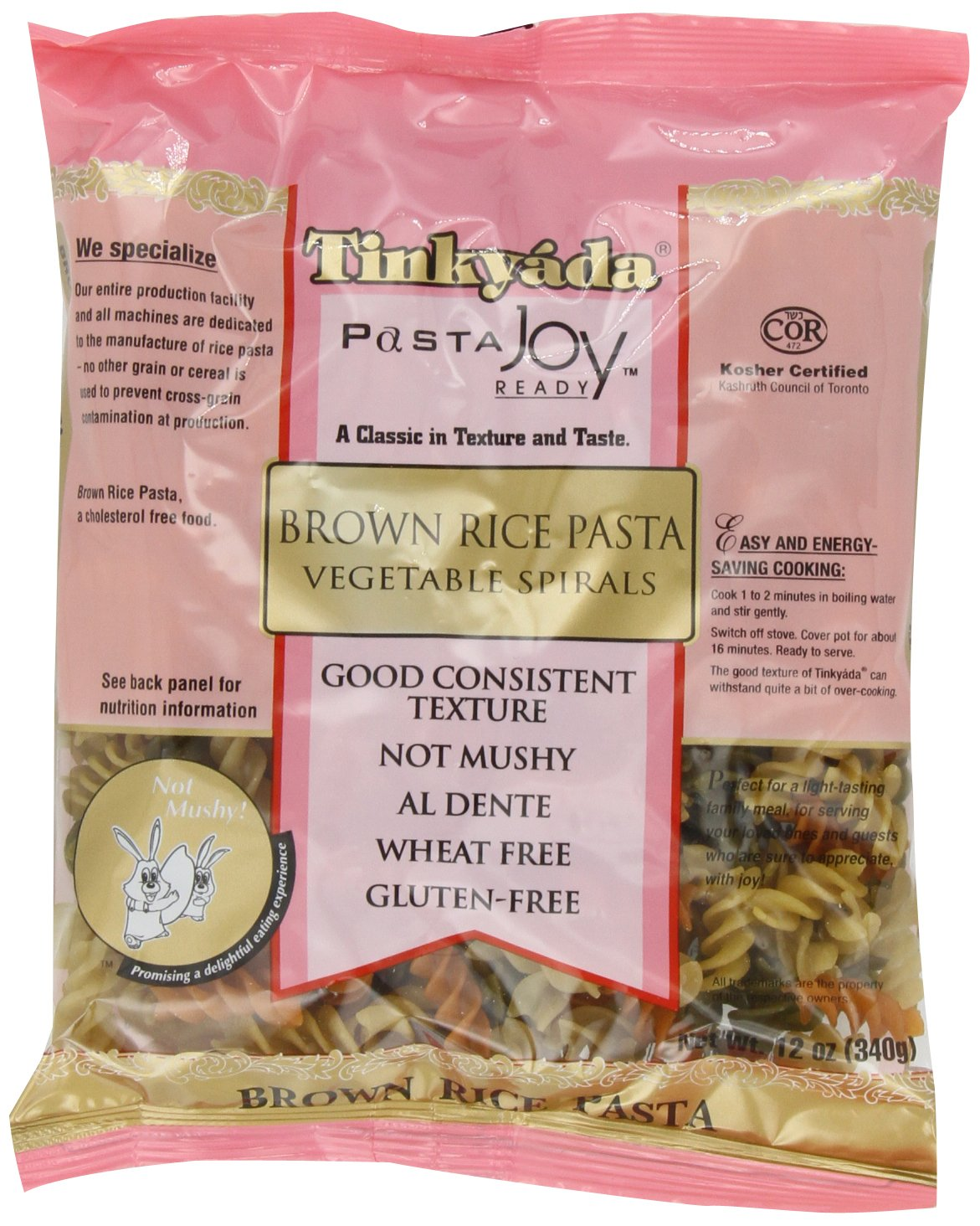 Amazon : Tinkyada Brown Rice Pasta, Spaghetti With Spinach, 12 Ounce  (pack Of 12) : Spaghetti Pasta : Grocery & Gourmet Food