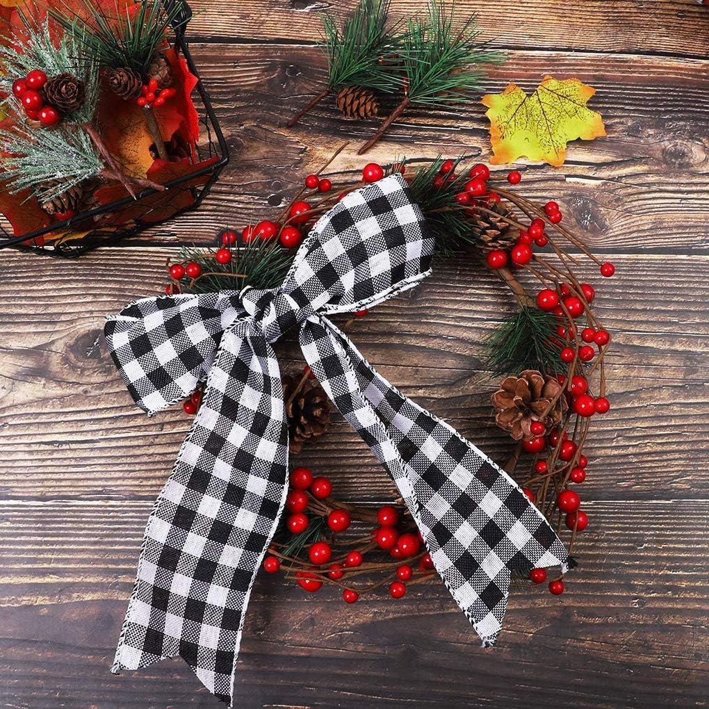 Patpan Cinta de poli/éster arpillera Guinga de Envolver la Cinta de la Tela Escocesa de Navidad decoraci/ón de los Artes de la Trenza
