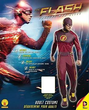 Rubies Mens Flash Tv Show Classic Costume, Standard, Chest 44