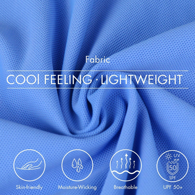 BALEAF Men's Golf Polo Shirt Workout Tennis Quick Dry Long Sleeve Shirt UPF 50+ Sun Protection: Clothing