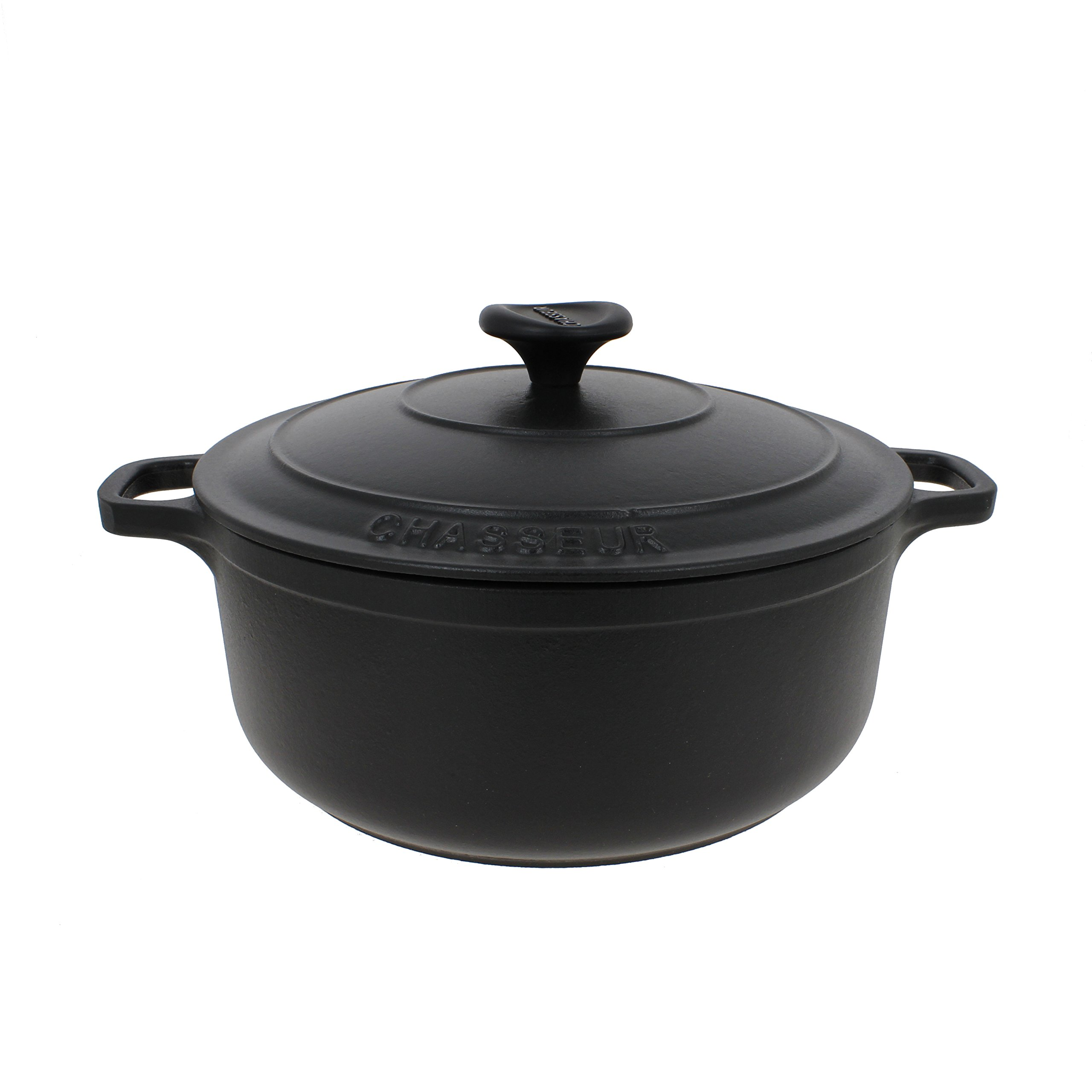 Chasseur 3.25-quart Black French Enameled Cast Iron Round Dutch Oven