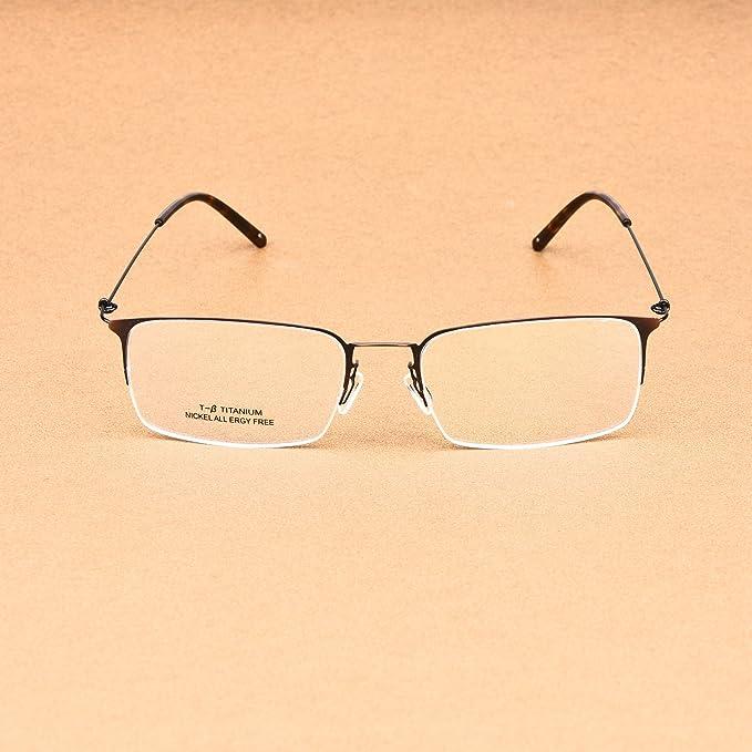 adb44475e8 Amazon.com  SO SMOOTH WIND Square Shape Glasses Frame Prescription Eyewear  Frame S1101 (Bronze