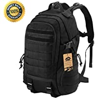 LuKaiSen Military Tactical Backpack Rucksacks Survival Gear Bag Men Women Kids Large Molle Waterproof Daypack for Army Camping Gym Hiking Trekking 40L 1050D Nylon