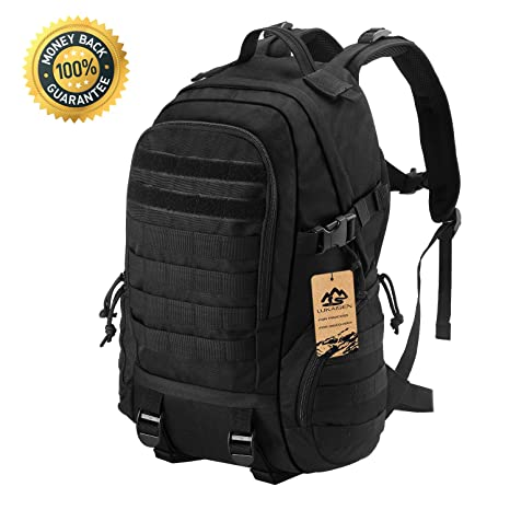 LuKaiSen Military Tactical Backpack Rucksacks Survival Gear Bag Men Women  Kids Large Molle Waterproof Daypack for 28d3eaf3cdfb9
