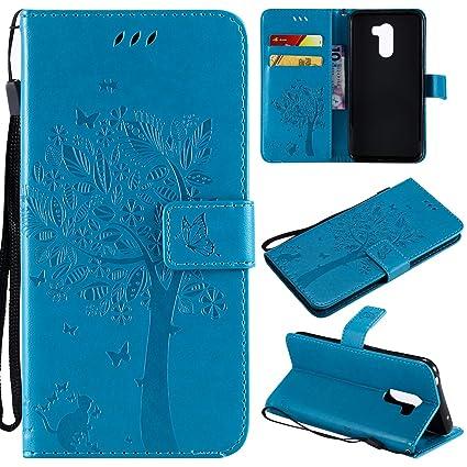 HopMore Funda Xiaomi Pocophone F1 Interior Silicona Cuero con Tapa 360 Protección Billetera Motif Bonita Resistente Antigolpes Carcasa Xiaomi Poco F1 ...