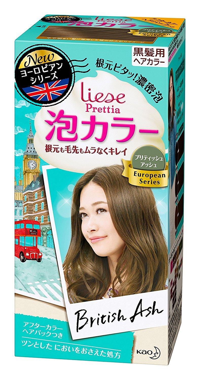KAO Japan Liese Prettia Creamy Bubble Hair Color for Dark Hair European Series (British Ash) by Prettia