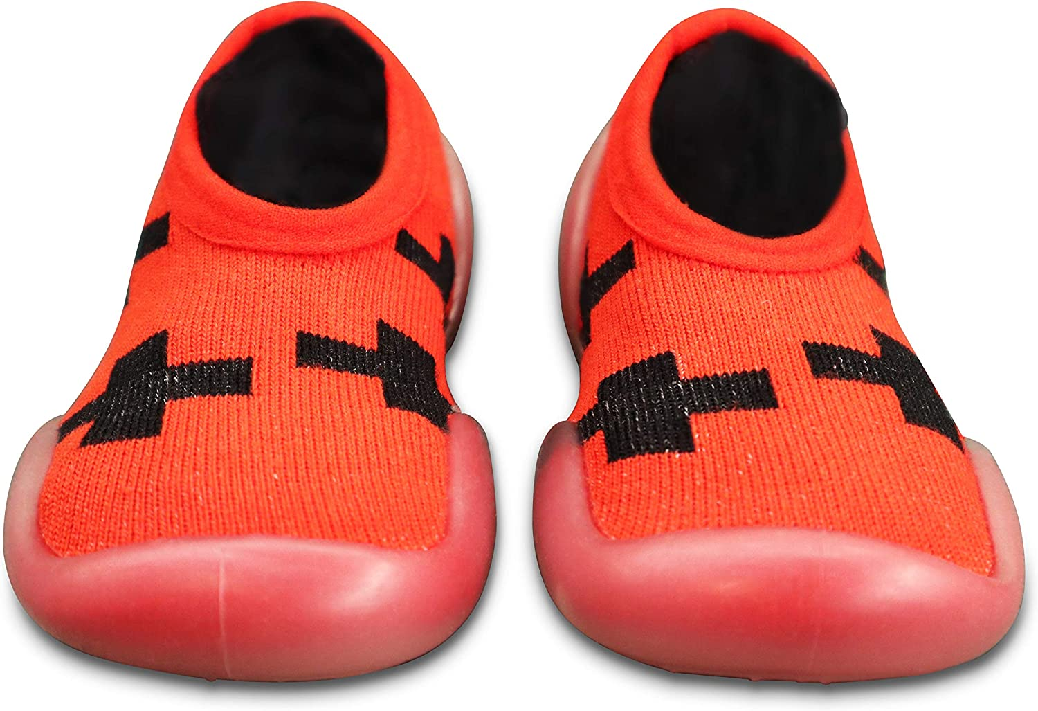 Unisex Baby Toddler Sock Shoes Star Stripes Breathable Cotton Anti Slip Rubber Sole First Walking Shoes Slippers Toddler Size