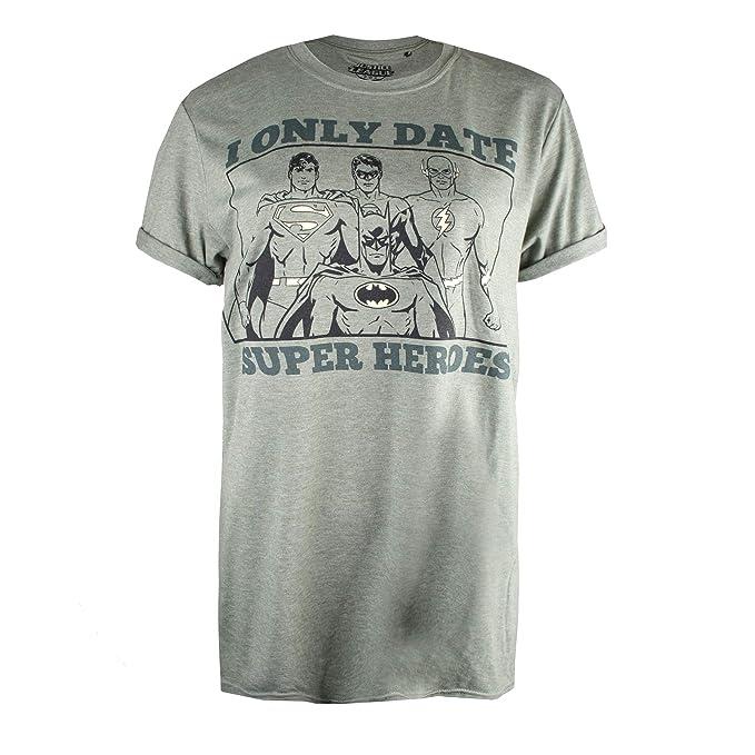 DC Comics Only Date Superheroes, Camiseta para Mujer: Amazon.es: Ropa y accesorios