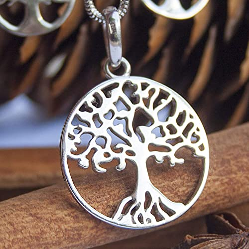 Yggdrasil Sterling Silver Viking Celtic Family Tree Of Life Necklace