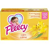 Fleecy Aroma Therapy Fabric Softener Dryer Sheets, Calm, 120 sheets