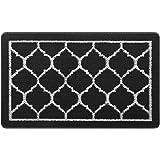 HappyTrends Door Mat Outdoor Indoor Entryway Doormat Welcome Mat, Super Absorbent Non Slip Rubber Floor Mat Low-Profile Rug T