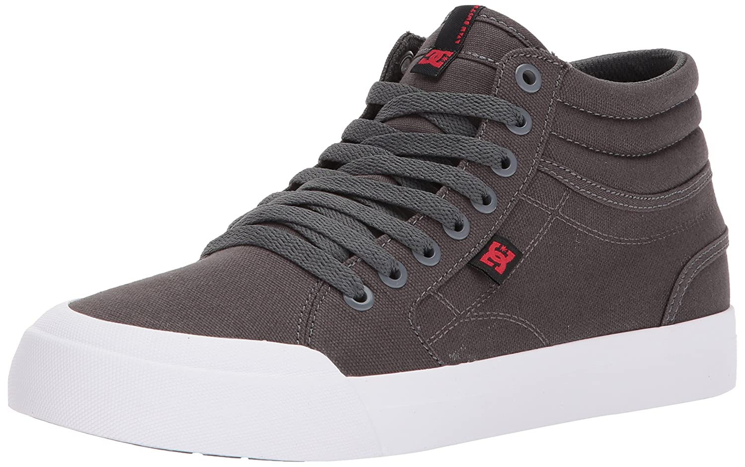 DC Men's Evan Smith Hi Tx Skate Shoe 6.5 D D US|Grey/Black/Red