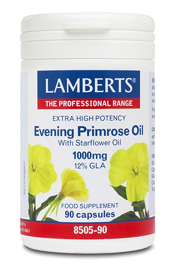 LAMBERTS Evening Primrose Oil with Starflower Oil 1000 mg 90 Caps:  Amazon.co.uk: Health & Personal Care