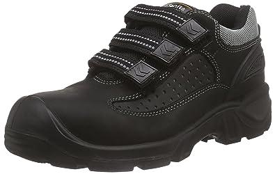 Sanita San-Safe Yellow Velcro Shoe, Chaussures de Sécurité Mixte Adulte, Noir (2), 44 EU