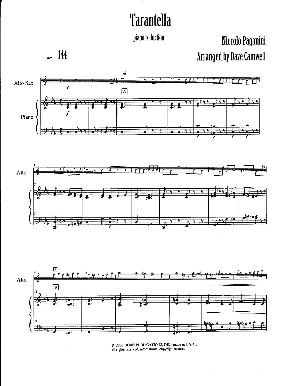 Guide Tarantella Saxophone