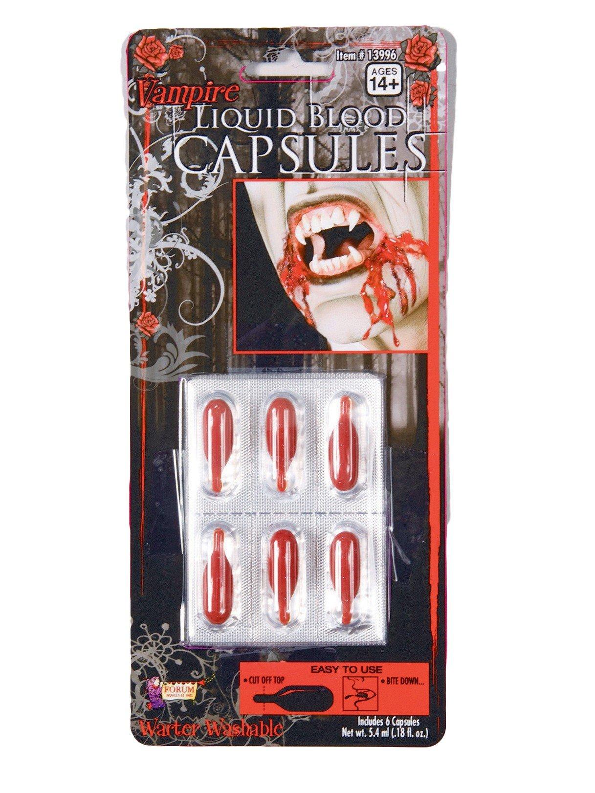 Forum Novelties 13996 Unisex-Adults Blood Liquid/Capsules, Orange, Standard, Multicolor by Forum Novelties (Image #1)