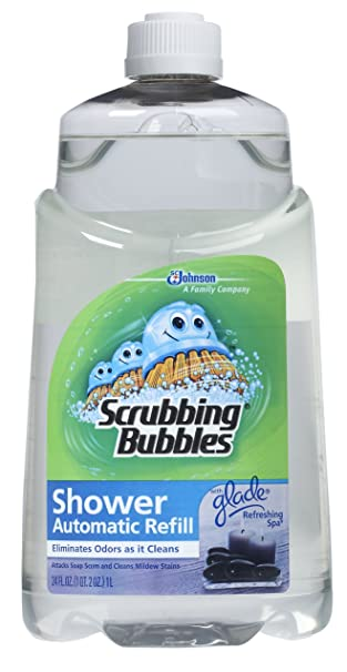 Amazon.com: Scrubbing Bubbles Auto Shower Cleaner, Refreshing Spa Refills  (Pack Of 6): Health U0026 Personal Care
