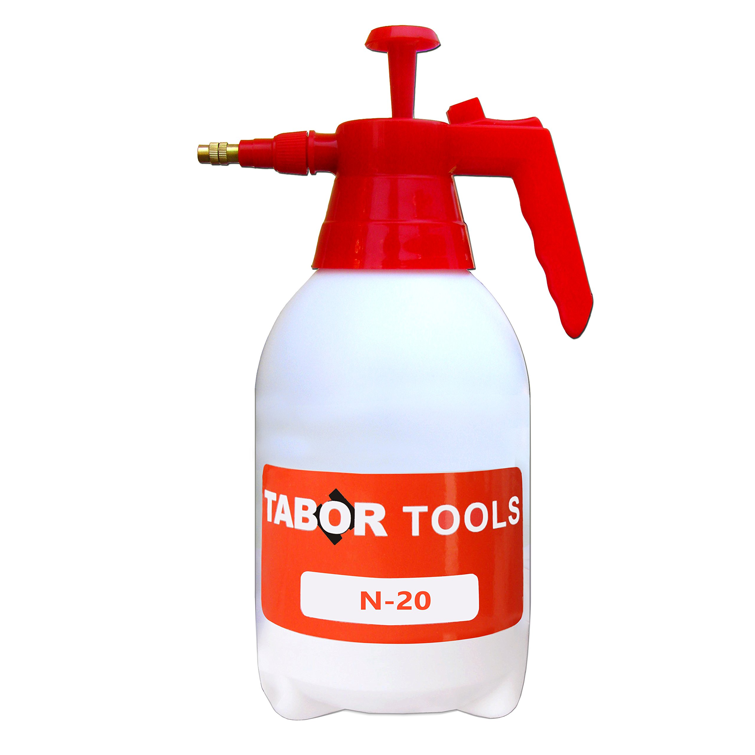 TABOR TOOLS N-20, Pump Pressure Sprayer, 0.5 Gallon Garden Sprayer & Mister for Water, Herbicides, Pesticides, Fertilizers, Mild Cleaning Solutions and Bleach by TABOR TOOLS
