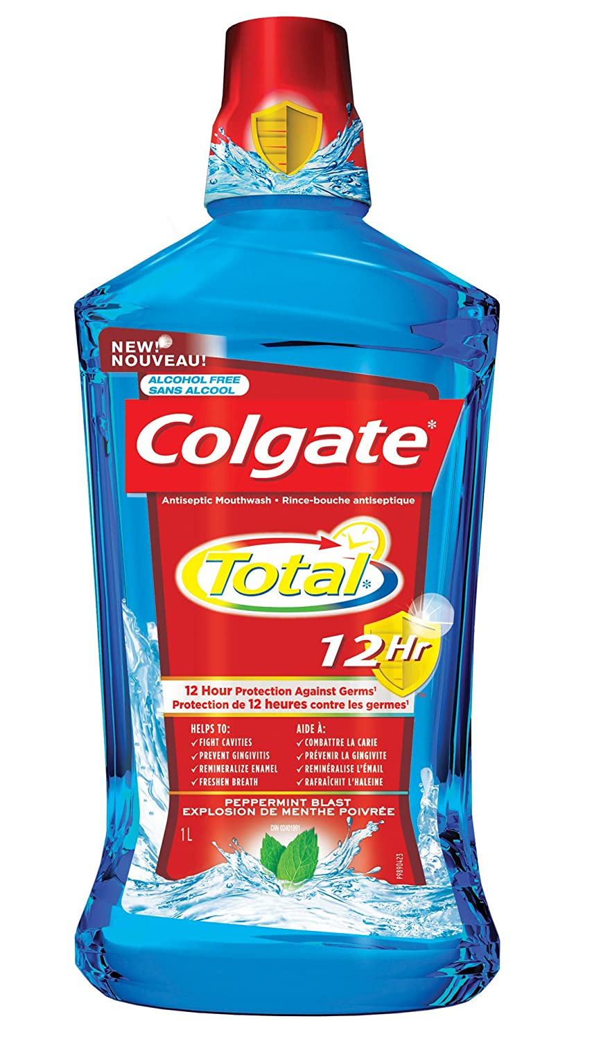 Colgate Total 12HR Pro-Shield Mouthwash Spearmint Surge, 1L 313930