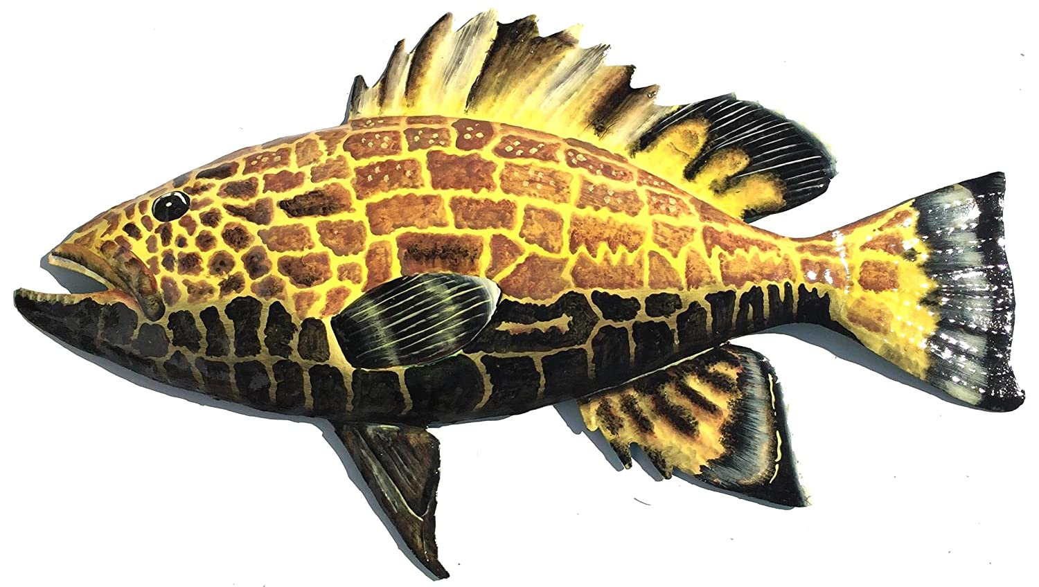 Amazon.com: Black Grouper Fish Wall Art Replica Mount - Haitian ...