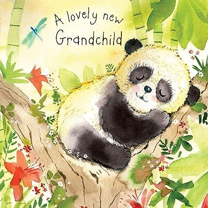 Twizler Tarjeta de felicitación para nieto con diseño de panda de ...
