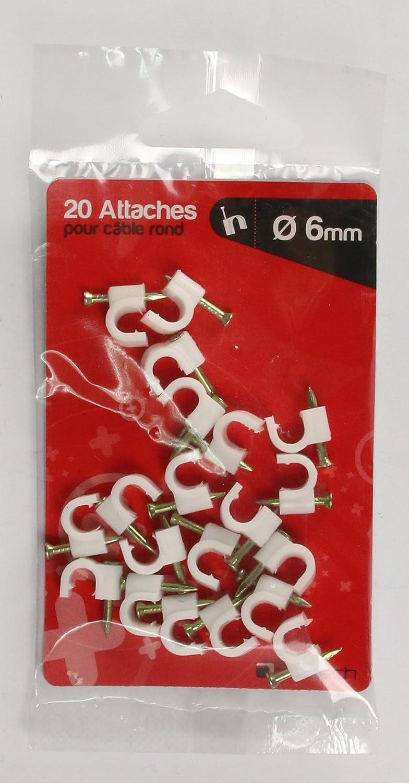 Diverse 20 Clips 20 cm Grau Kunststoff