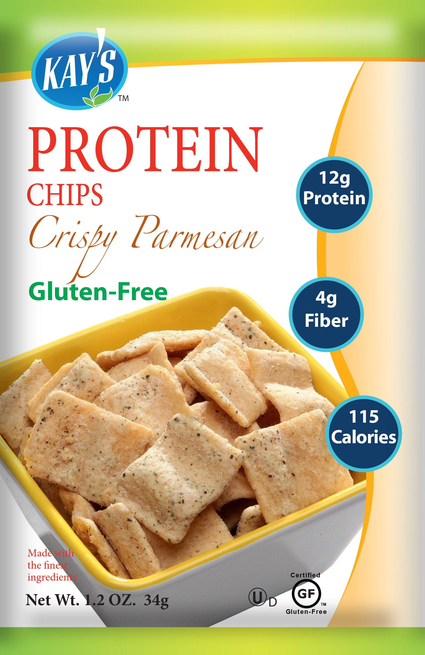Kay's Naturals Protein Chips, Crispy Parmesan, Gluten-Free, 1.2 Ounce (Pack of 6)