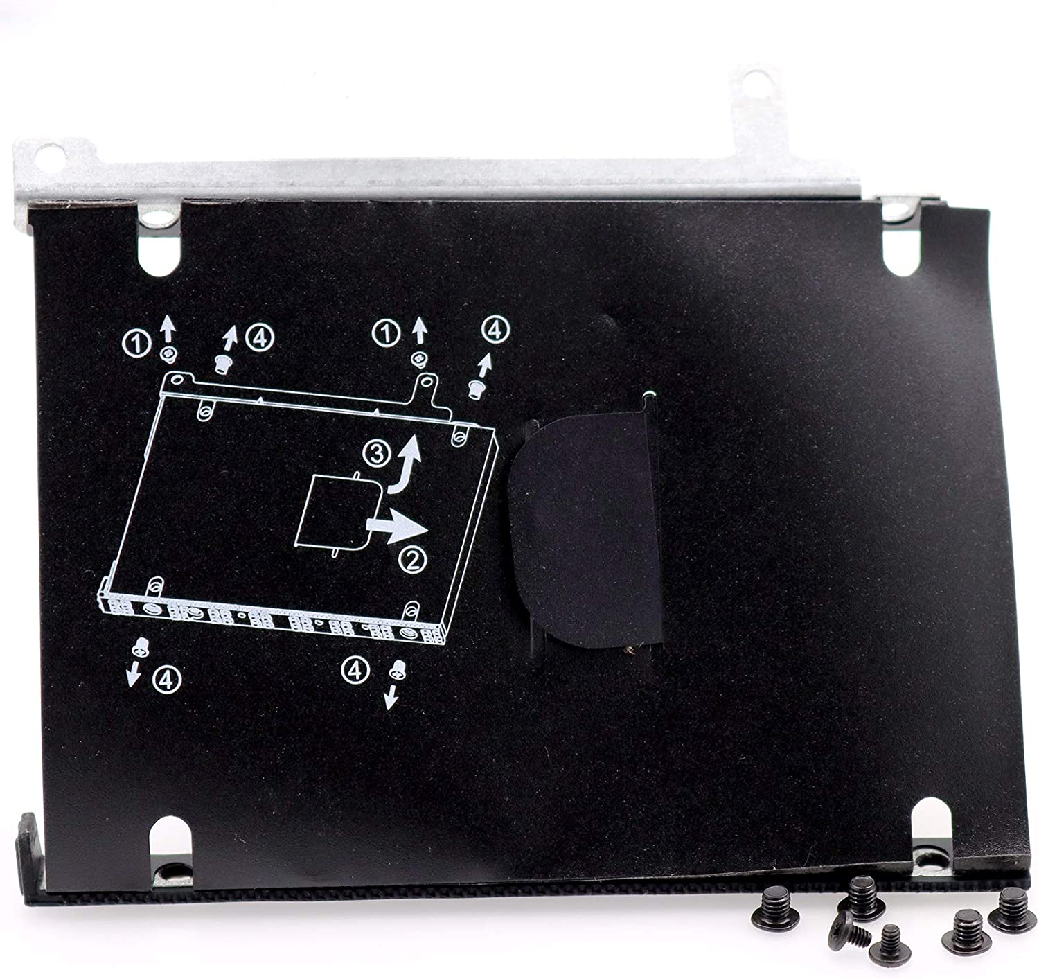 """Deal4GO 2.5"""" SSD SATA Hard Drive Caddy HDD Bracket Frame with Screw for HP ProBook 455 G5 450 G5 451 G5 456 G5 470 G5 471 G5 475 G5 L00836-001"""