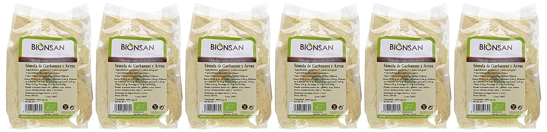 Bionsan Sémola de Garbanzos y Arroz - 6 Paquetes de 500 gr - Total: 3000 gr: Amazon.es: Alimentación y bebidas
