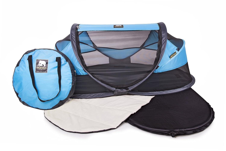 Blue Deryan Travel Cot Baby Luxe