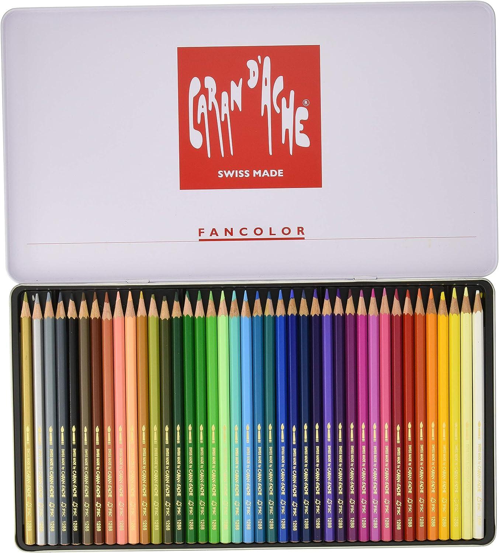 Caran d/'Ache Fancolor Color Pencils 40 Colors