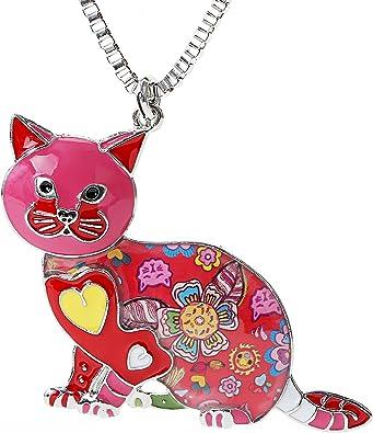 Día de San Valentín Regalos para Gato Gatos de Dibujos de Esmalte ...