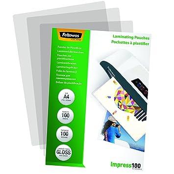 Fellowes 5351111 Pochettes De Plastification Brillantes Impress 100 Microns A4