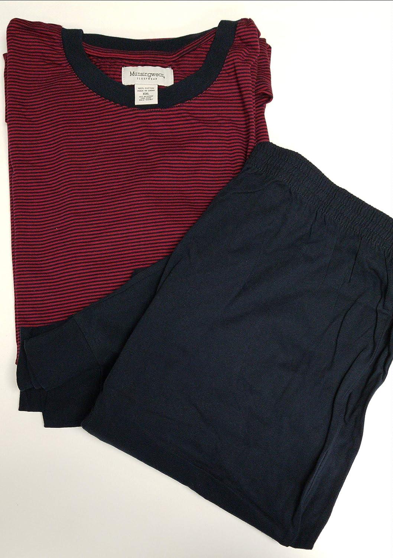 Munsingwear State of Maine Ski Pajamas (Large) Burgundy