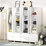 JOISCOPE MEGAFUTURE Portable Wardrobe for Hanging Clothes, Combination Armoire, Modular Cabinet for Space Saving, Ideal Stora