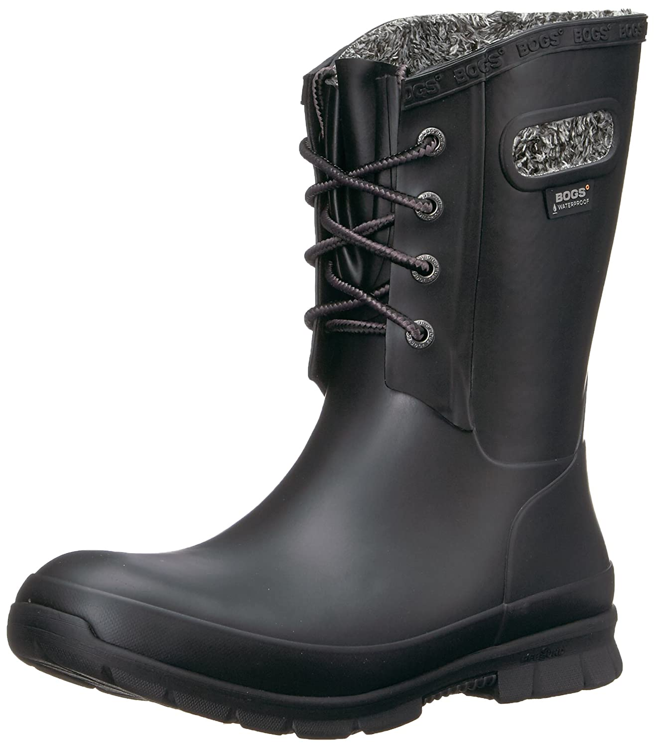 Black Bogs Women's Amanda Plush Snow Boot