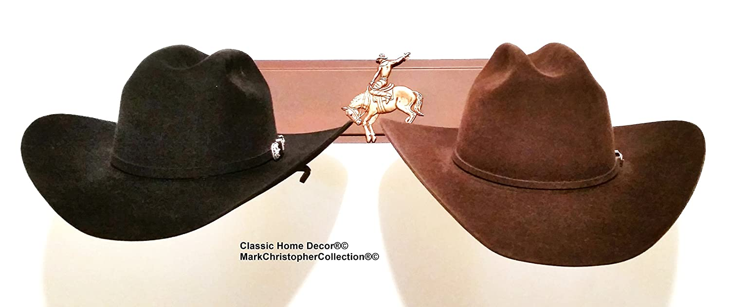d9777f0cd55 Amazon.com  Mark Christopher Collection American Made Cowboy Hat Holder  Brim Up Bronc with Gold Stars 6622 Bronc  Home   Kitchen