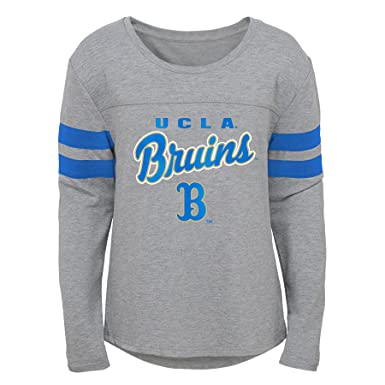 Heather Grey Outerstuff NCAA Bruins Youth Girls Field Armor Dolman Sleeve Top Youth Girls Large 14
