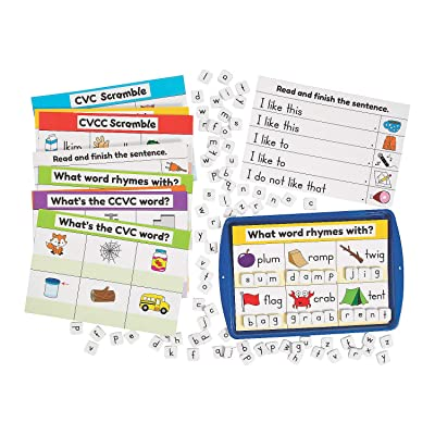 Fun Express CVC,Cvcc, & Ccvc Magnet Activity Set - 67 Pieces - Educational and Learning Activities for Kids: Toys & Games