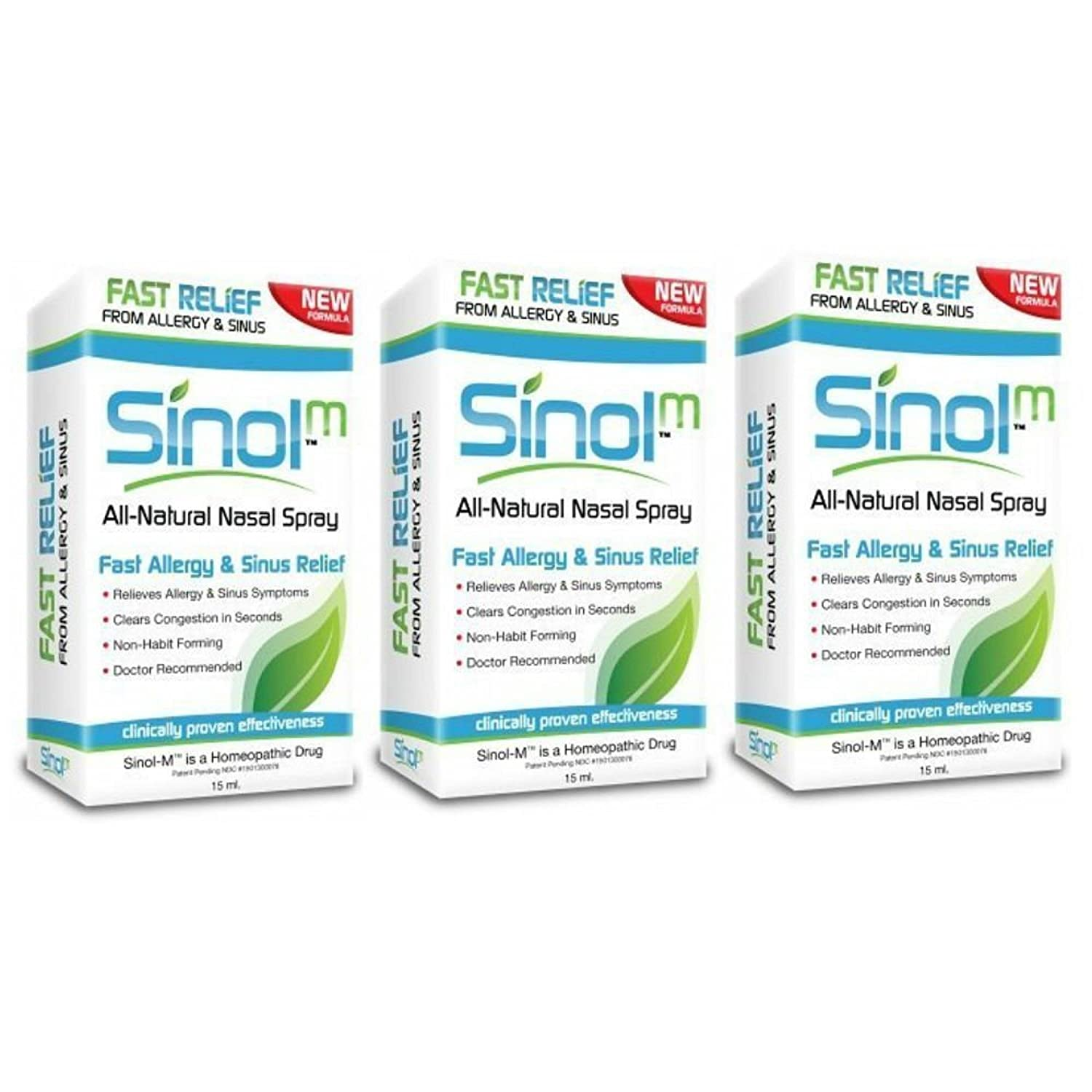 amazon com sinol m allergy u0026 sinus relief spray 15 ml health