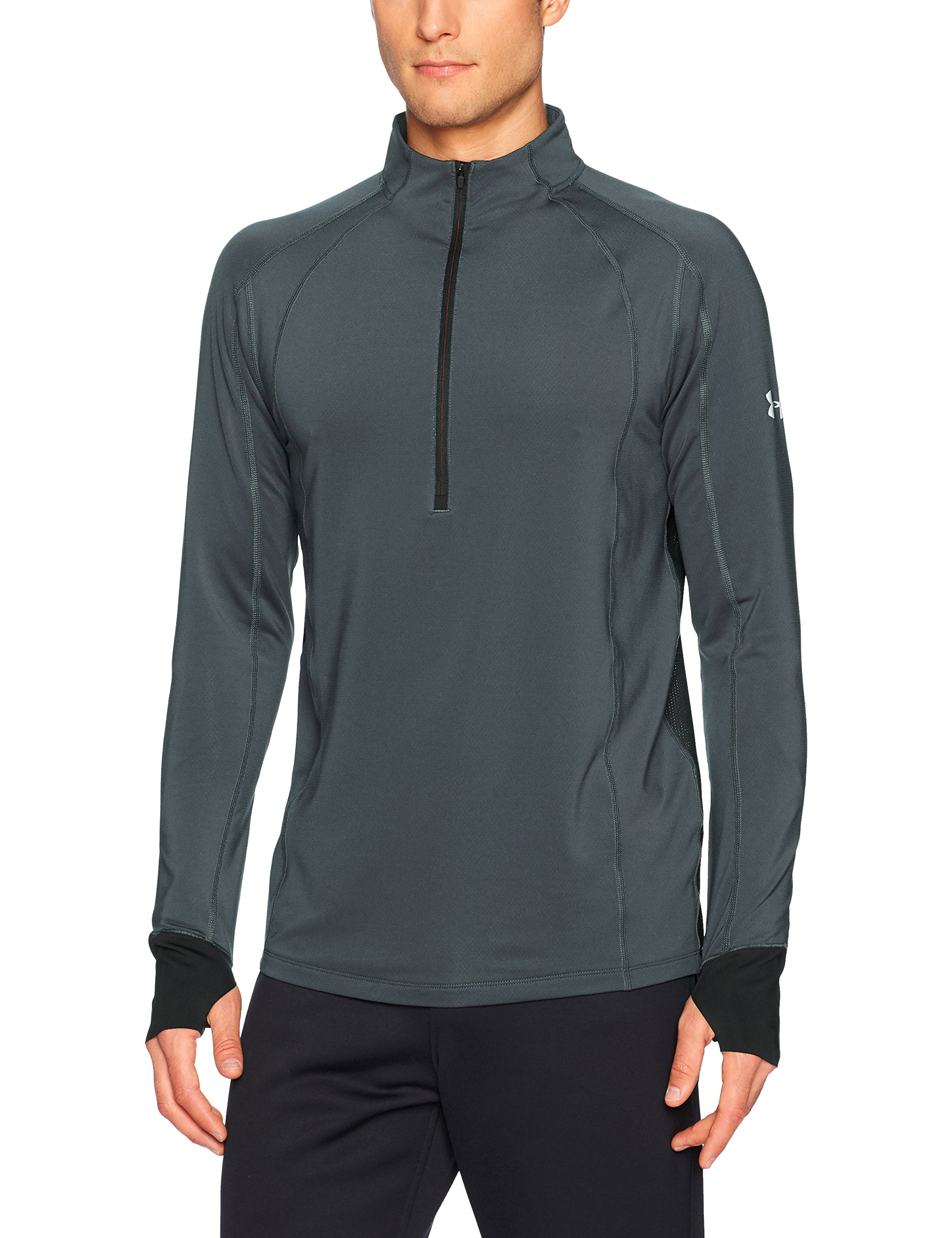 Under Armour Men's ColdGear Reactor Run ½ Zip,Stealth Gray (008)/Reflective, Medium by Under Armour (Image #1)