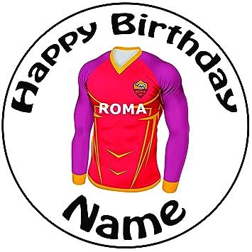 """Personalizado Roma camiseta de fútbol decoración para tarta para – una precortado redondo 8 """""""