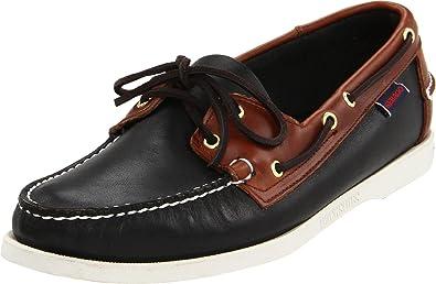 Sebago Spinnaker, Chaussures bateau homme , Noir (Black/Brown), 40 EU