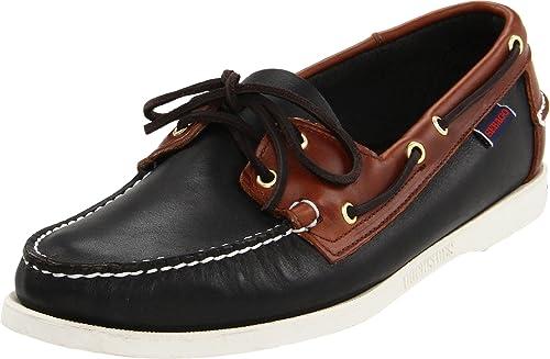 e605c7609c Sebago SPINNAKER - Zapatos de cordones de cuero para hombre, Multicolor  (Noir/marron (Black / Brown)), 45: Amazon.es: Zapatos y complementos