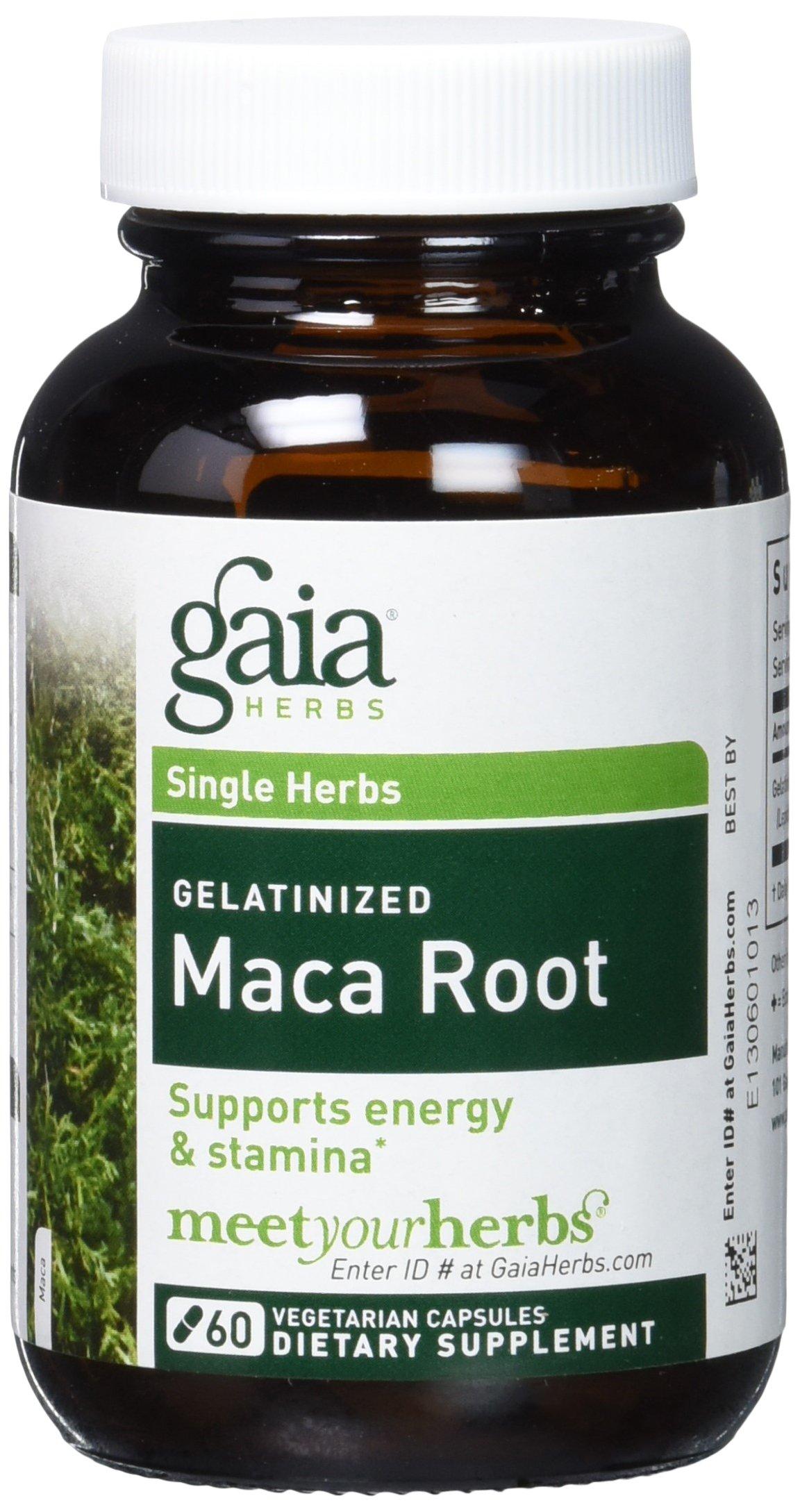 Gaia Herbs Maca Root Capsules, 60 count