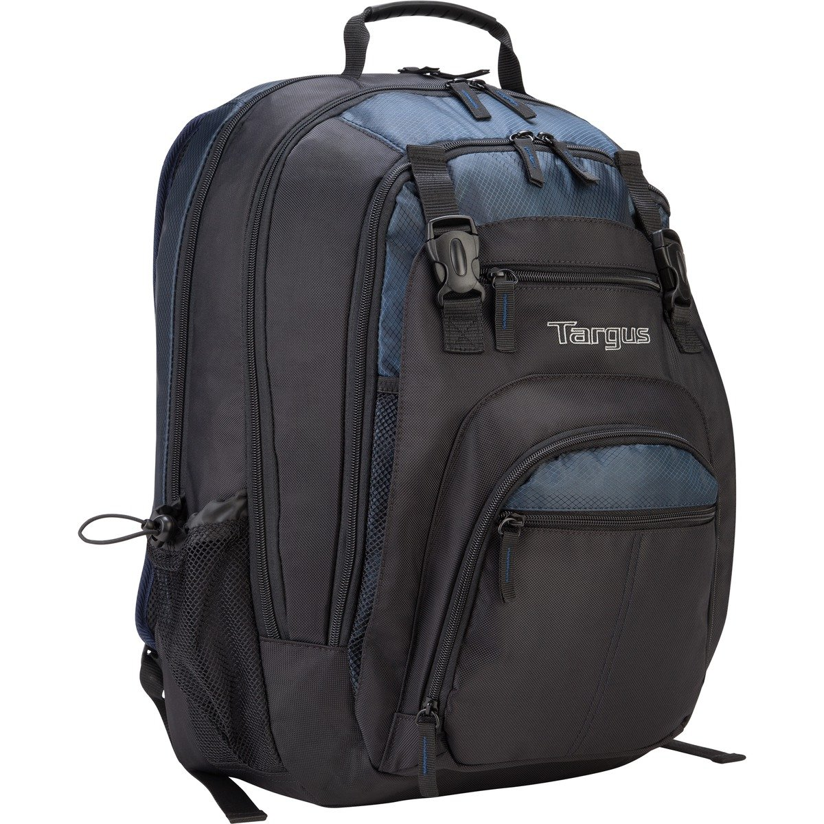 768b05469475 Targus XL Backpack for 17-Inch Laptops, Black with Blue Accents (TXL617)